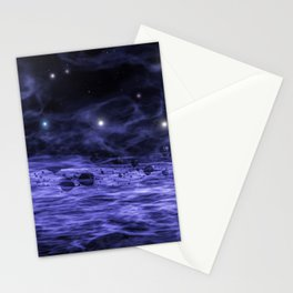 Meteorites in space nebula Stationery Cards