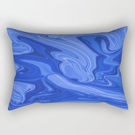 Abstract Blue Liquids Rectangular Pillow