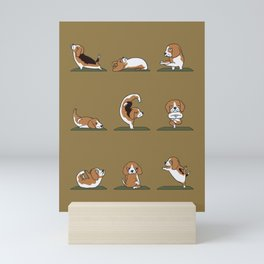 Beagle Yoga Mini Art Print