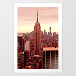 Empire Runs Red Art Print