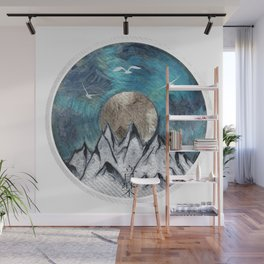 The Sound Of Nature - Blue Wall Mural