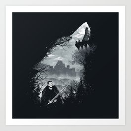 The White Wolf Art Print
