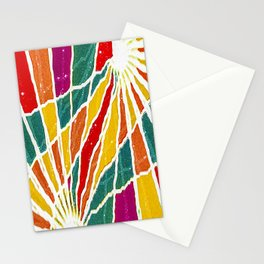 Multicolored Vibrations Abstract Art Stationery Cards