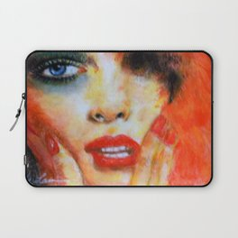 Title: Pastel Portrait - Orange Passion Laptop Sleeve