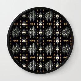 SCANDINAVIAN LEAVES PATTERN Wall Clock