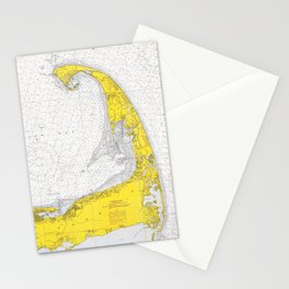 Vintage Map of Cape Cod (1971) Stationery Cards
