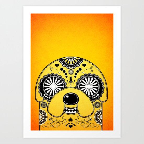 Jake - Day of the De-Adventure Time (Orange) Art Print