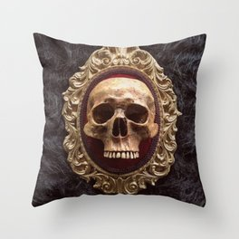 Catacomb Culture - Vintage Human Skull Throw Pillow