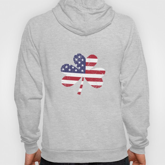 USA Flag Shamrock St. Patrick's Day Gift Idea Hoody
