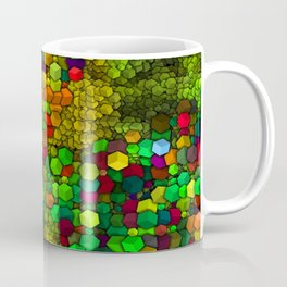 Artistic Cubes 01 green Coffee Mug