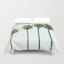 Four Palm Trees Duvet Cover
