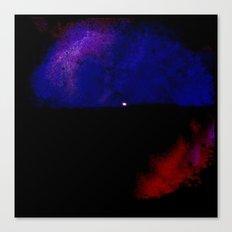 Moon Paint Canvas Print