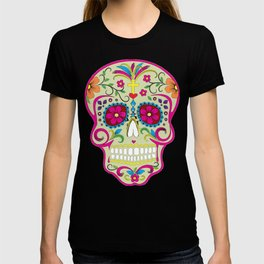 Sugar Skull cream T-shirt