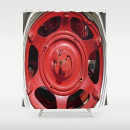 Big Red Wheel Shower Curtain