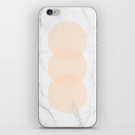 Marble Scandinavian Design Geometric Circle iPhone Skin