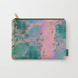Pink and Green Paint Carry-All Pouch