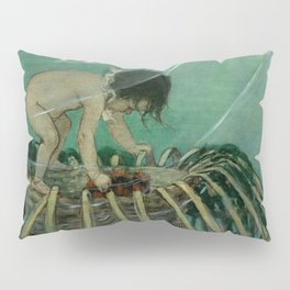 """Baby and the Lobster Trap"" by Jessie Willcox Smith Pillow Sham"