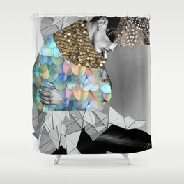 fashion collage Shower Curtain