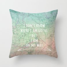 I'm On My Way Throw Pillow