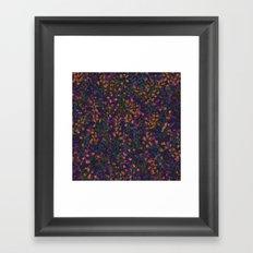 purple fleur Framed Art Print