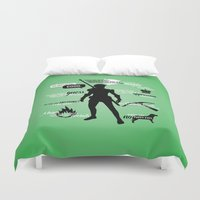 dragon age Duvet Covers featuring Dragon Age - Fenris by firlachiel