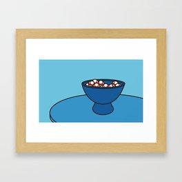 Mushroom Bowl Framed Art Print