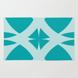Abstract Flower Diamond - Ocean Rug