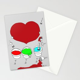 Figure out the color of my heart - RGB mode Stationery Cards