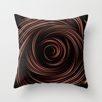 chocolate Throw Pillows featuring Chocolate by Giada Rossi