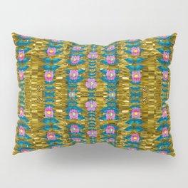 gold jungle and paradise liana flowers Pillow Sham