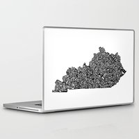 kentucky Laptop & iPad Skins featuring Typographic Kentucky by CAPow!