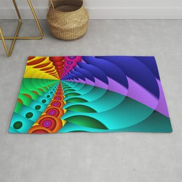 whirls of color -02- Rug