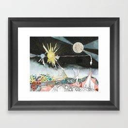 Exploration: The Sun Framed Art Print