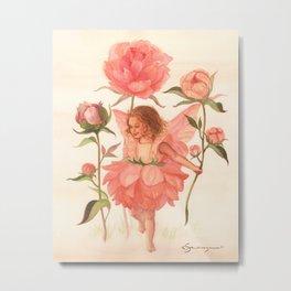 Flower Fairy - Vintage Inspired - Botanical Illustration Metal Print
