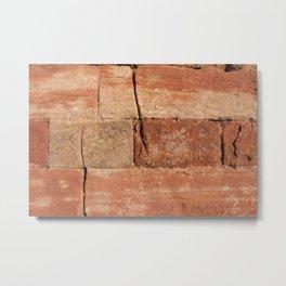 Ancient Sandstone Wall Metal Print