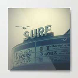 Ocean City Surf Mall Metal Print