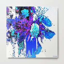 Callas and Orchids Abstract Floral 3 Metal Print