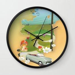 Ireland vacation poster. Wall Clock