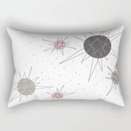 Atomic Stars Pink Rectangular Pillow