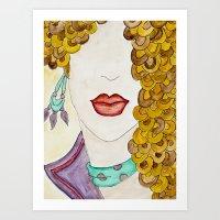 sassy Art Prints featuring Sassy by Shanii Renay