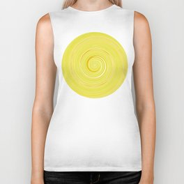 Re-Created Spin Painting (Yellow) by Robert S. Lee Biker Tank