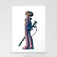 nausicaa Stationery Cards featuring Nausicaa's Stare by Voddas