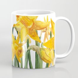 watercolor yellow narcissus Coffee Mug