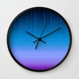 Sombra Skin Virus Pattern Wall Clock