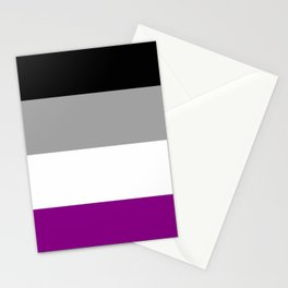 Flag of asexuality Stationery Cards