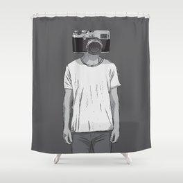 Camera dude Shower Curtain