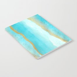 Gold and blue sea Notebook