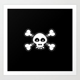Skull & Bones Tattoo Art Print