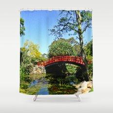 Red Bridge Shower Curtain