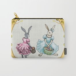 Dressed Easter Bunnies 2 Carry-All Pouch